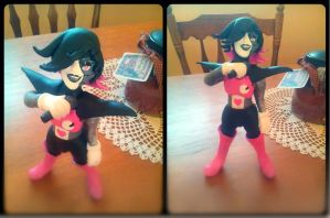Mettaton sculpey thing by dratinigirl