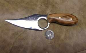 Skinning blade with Zebrawood handle by SkyfireDragon