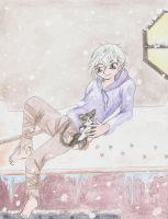 Jack Frost with Kitty by KunoichiAyu