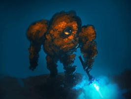 Rock Golem by benedickbana