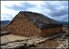 Numantia house reconstructed - Spain by Rubengda