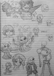 Undertale Sketchdump by TheGoldenMember123