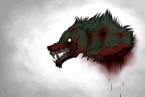 Zombie Wolf Doodle by Ichigowolf1410