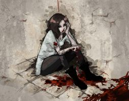 ther's a stain on the floor by Sences