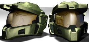 Chief Helmets by Namelessblob