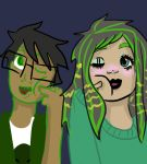 Me and my husband being goofy by TheEvilDuckx666