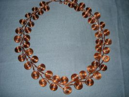Copper wire necklace by NormasCreations