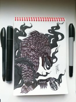 NotebookArt#1_RavenBeast by Rayner80