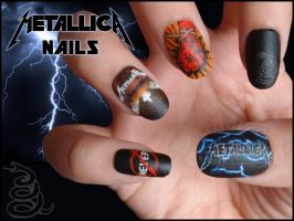 Metallica Nails by JawsOfKita-LoveHim