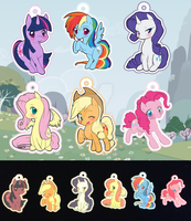 || Limited Keychains || MLP Mane 6 by Wonderland-Designs