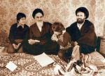 Khomeini with son and grandsons by makanparsi
