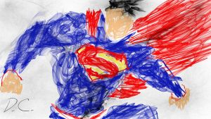 Superman Flame Painting by mkscorpion202