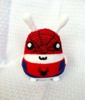 Fat Bunny Cosplaying as the Amazing Spider Man by PinkChocolate14