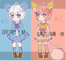 [CLOSED] Adoptable Auction Collab #3 by Kanzy-Chan