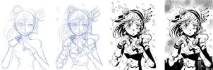 the making of Kana23 by NikoleArt