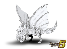 monster hunter fakemonster: ruinferos / ryunfernos by REALzeles