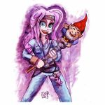 Apple and her Gnome stick by edbot5000