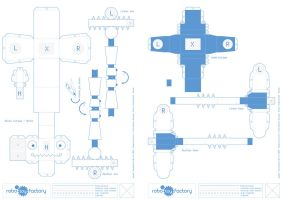 Robo Toy Factory - Blue Print by Monkiej