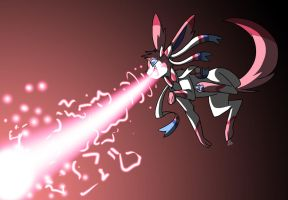 Sylveon used Lisa Frank Particle Beam! by Inkblot-Rabbit