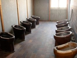Concentration Camp Toilets by porpierita