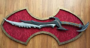 Daedric Sword - Skyrim by meadowhawk-designs