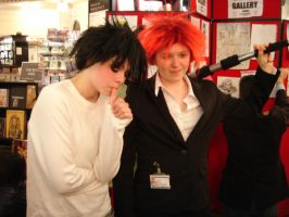 Cosplay - L and Reno by sassie-kay