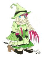 Witch lineartby ~patttyy COLORED by Minzey