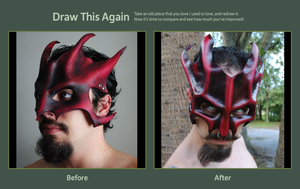 Leather Ruby Great Dragon Before and After 2 Years by Epic-Leather