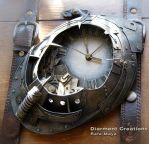 Steampunk Clock Atlantis by Diarment