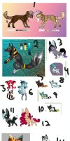 || Mass adopts - Old+New! || by BleedingColorAdopts