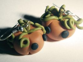 Pumpkin Earring by Hairac