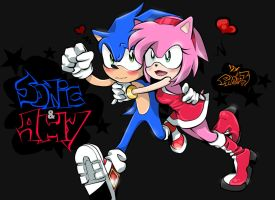 Sonic and Amy by PROLion3