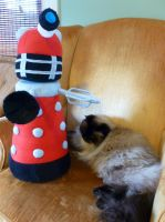 Monster Dalek Plushie by greenchylde