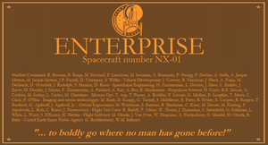 NX-01 Plaque by enterprisedavid