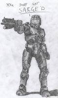 Sarge - Red vs Blue, Sketch by SilverbackPie