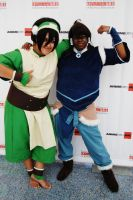 Avatar Korra and Toph by YoruichiNyow