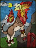 Rayth Stained Glass Window by CrystalCircle