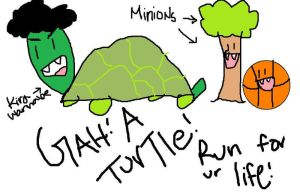 Turtle and his minions by bethrainbow