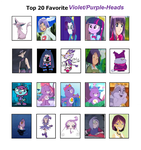 Top 20 Favorite Purple-Haired characters by Britishgirl2012