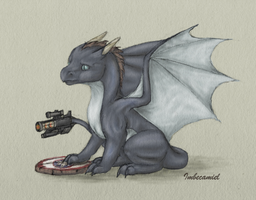Baby Agent Coulson Dragon by Imbecamiel