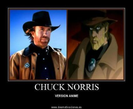 chuck norris anime by markdean2012