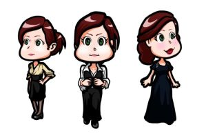 Rachel Dawes chibis by Art-Gem