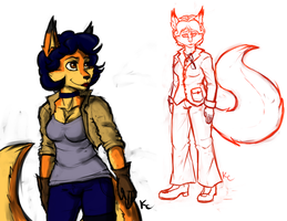Alternate Outfit Sketches of Carmelita by SnookumsGal