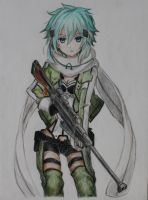 Sinon (coloured!) :) by lulupapercranes