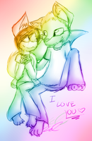 I love you by Xxcron
