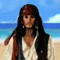 Captain Jack Sparrow by pinkstuff