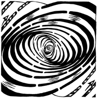 Swirl Wave Maze by ink-blot-mazes