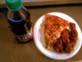 Papa John's Pizza,Wings and Fanta Soda -SkooB by SkoobyForever