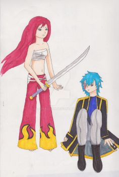 Erza and Jellal by jjmaclean