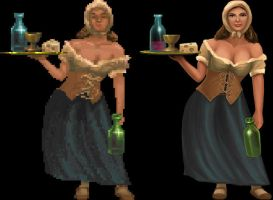 Daggerfall Sprite Work 182.11 by epicurius7